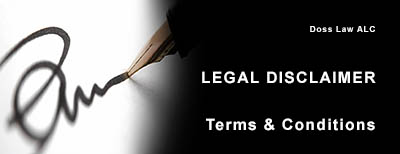 LEGAL DISCLAIMER OF DOSS LAW ALC